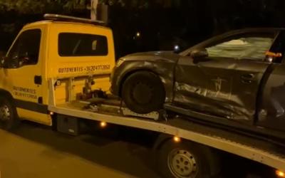 Éjjeli autómentés az Árpád úti kereszteződésből.