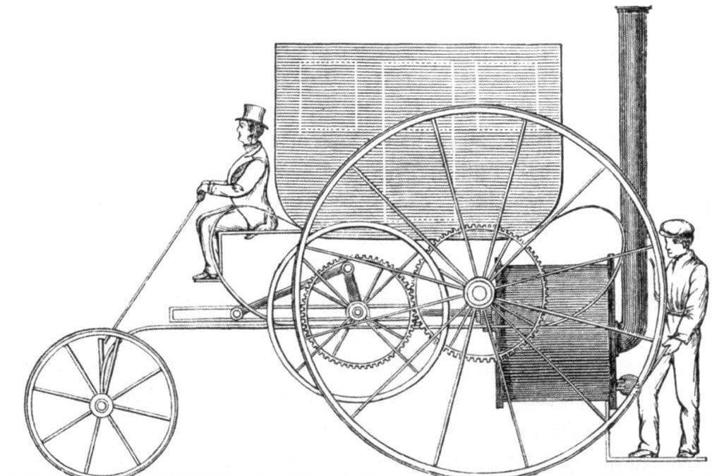 Közlekedés gőzgépekkel a 19. században