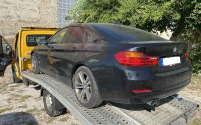 Váltóhibás BMW mentése Budapesten.